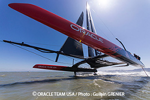 Oracle catamaran foiling