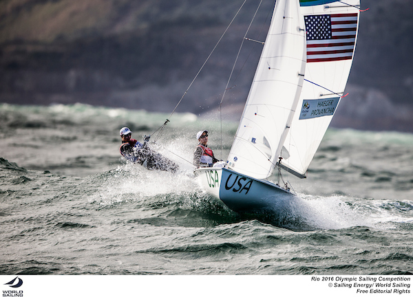 Annie Haeger and Briana Provancha - 470 Womens-USA-Rio-photo by Sailing Energy - World Sailing