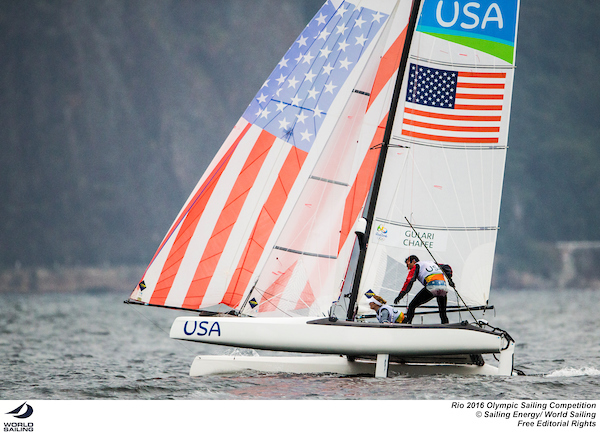 Bora Gulari-Louisa Chafee-Nacra17-USA-Rio-photo by Sailing Energy-World Sailing-sm