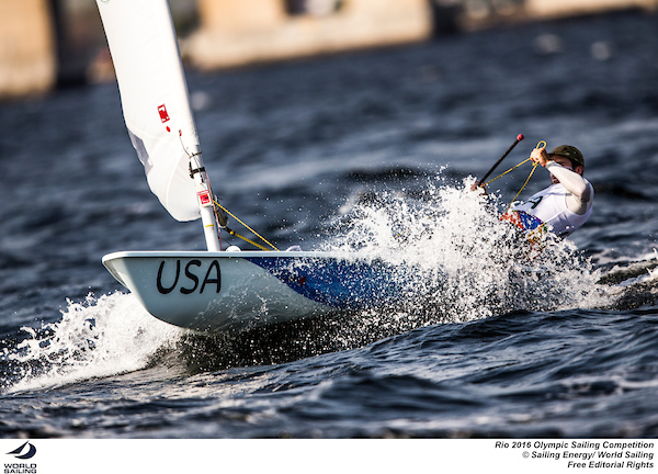 CrazySailing-Charlie Buckingham-Laser-USA-Rio-photobySailing Energy-World Sailing-sm